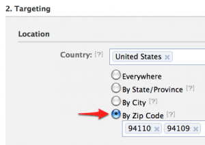 Small Business owners can now target by zip code on Facebook
