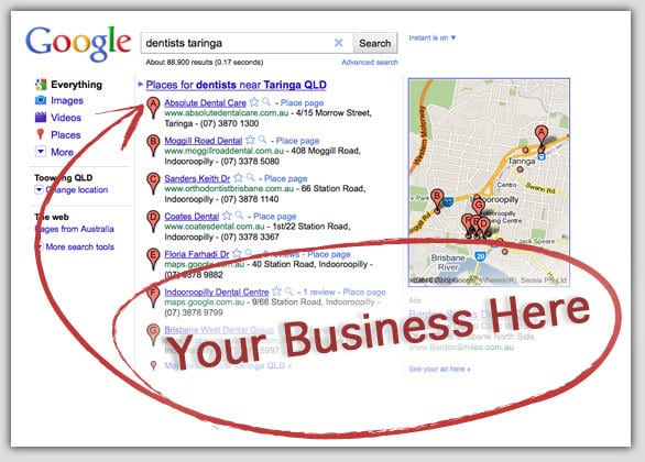 small business listing google places