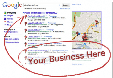 how do I get a google places page