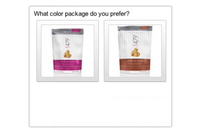 Packaging survey test with Google