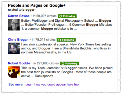 famous bloggers on google plus