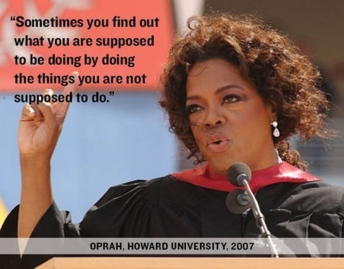 Oprah quote at Harvard university