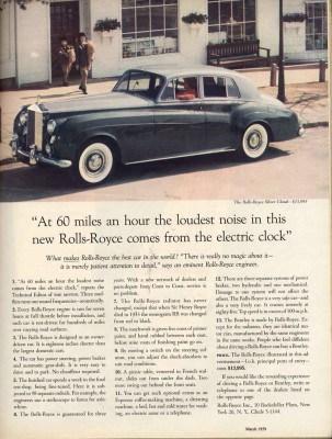 Classic car ad