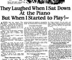 Classic headline for ad