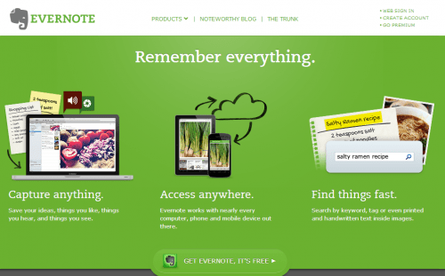 Use Evernote to store your operations manual ideas
