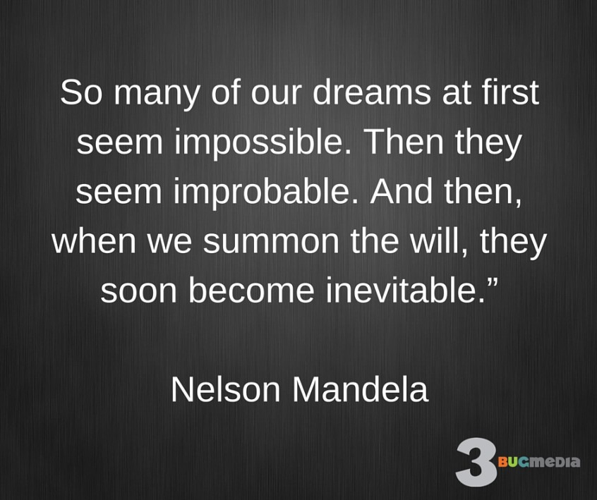 Nelson Mandela Quote on Dreams
