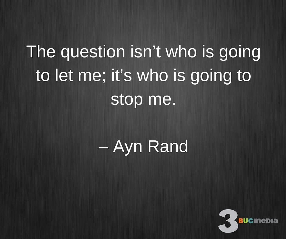 blogs firstthoughts advice from ayn rand