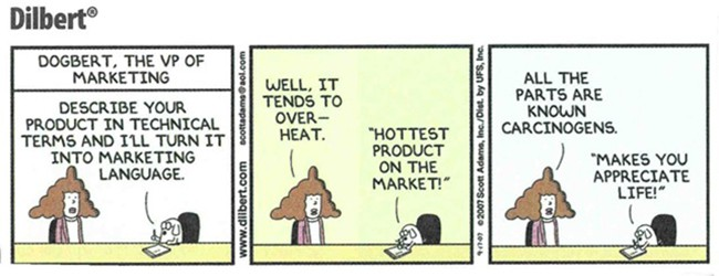 Dilbert Marketing Quote