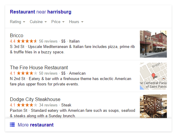 Examples of Local SEO Google 5 Star Rating System