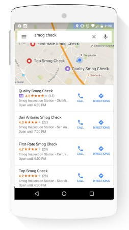 Google Adwords Local Search Ad Listing