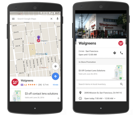 Google Promoted Pin Ads on Google Maps