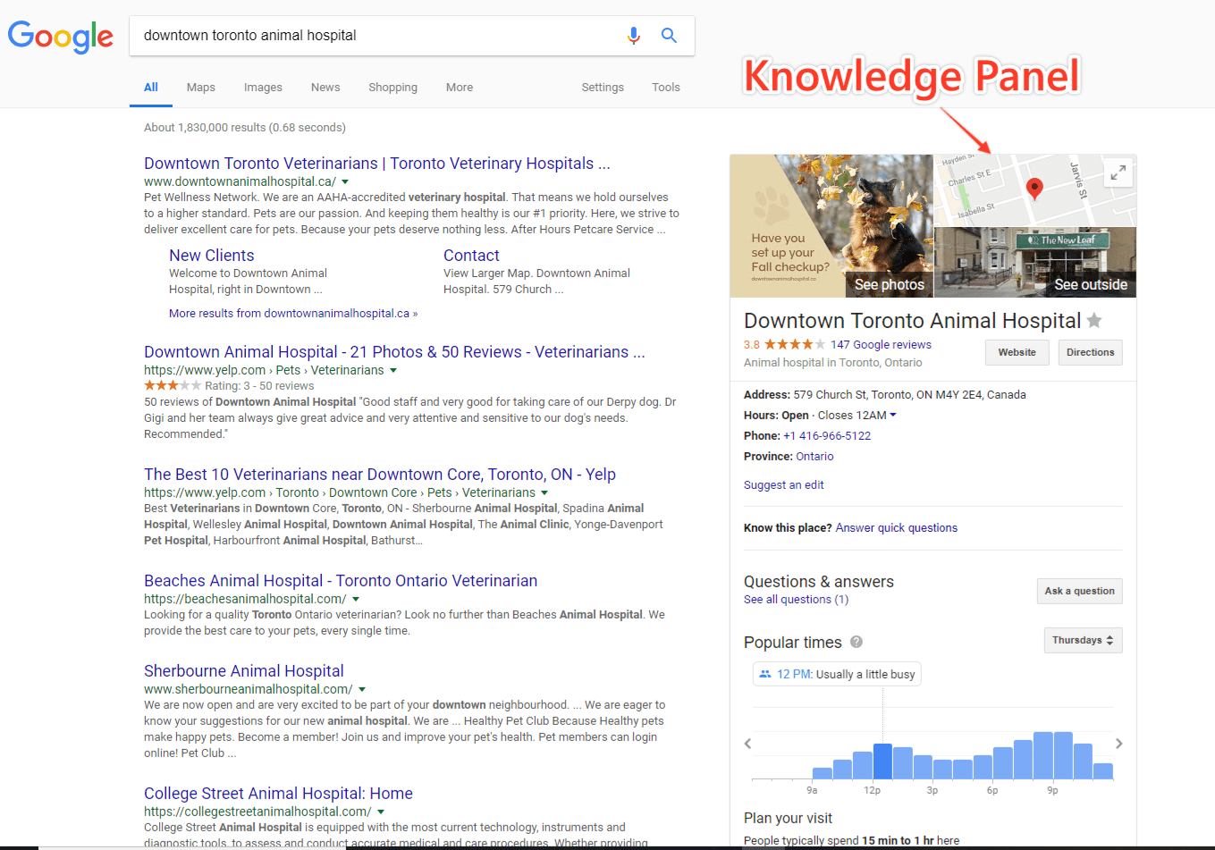 gmb knowledge panel
