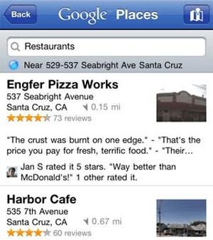 Google Places Mobile