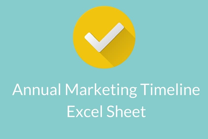 Annual Marketing Tiemline Excel Download Free