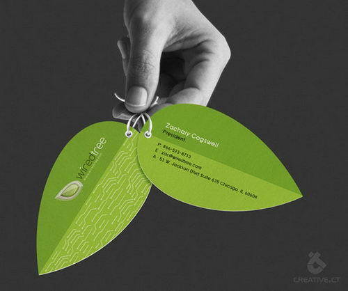 odd shaped business card
