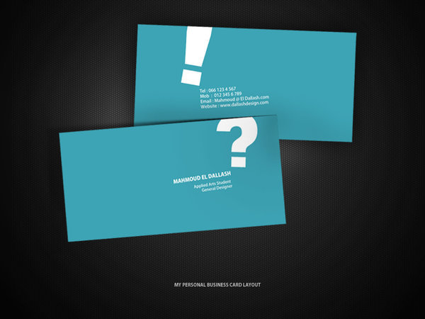 simple logo and design business card