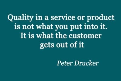 Peter Druker-Customer Service Quote