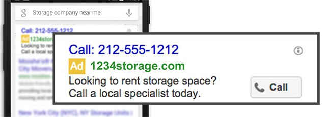 Google Adwords Call Only Campaign Image