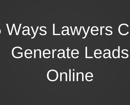 How Lawyers can Generate Leads Online