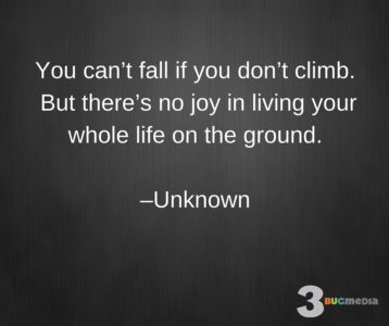 You Can't Fall If You Don't Climb Quote