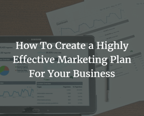 How To Create a Highly Effective Marketing Plan For Your Business