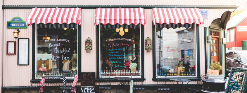 Being an entrepreneur- business storefront